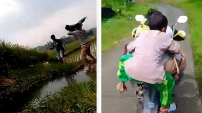 Viral Bocah Lelaki Dibully Dilempar ke Dalam Rawa, Dibonceng Hingga Nyaris Jatuh