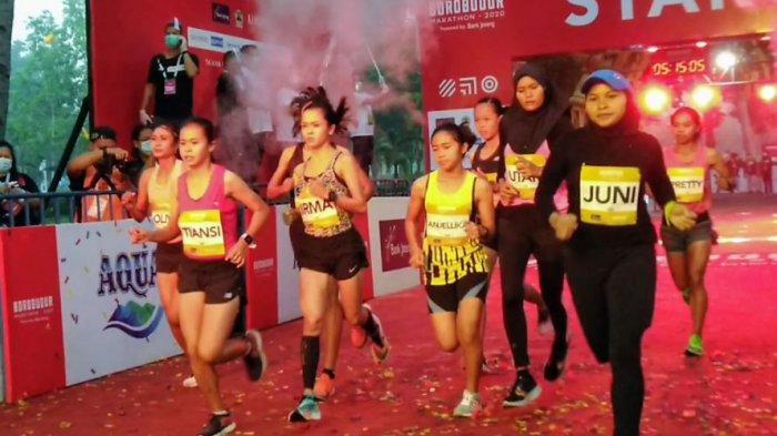 Pretty dan Irma Pecah Kongsi di Putaran Terakhir,  Borobudur Marathon 2020 Sukses di Tengah Pandemi