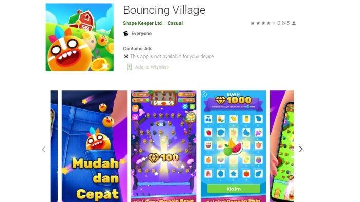 Aplikasi Penghasil Uang Bouncing Village Game Anti Ribet Tidak Perlu Daftar Akun