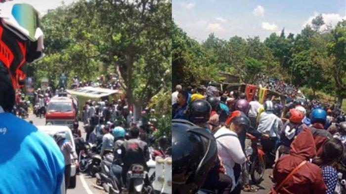 BREAKING NEWS, Bus Pariwisata Terguling di Bandungan Terjadi Kemacetan Panjang