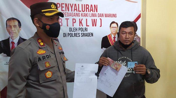 Wah Senangnya, 2.500 PKL dan Warung di Sragen Dapat Bantuan Rp 1,2 Juta dari Polri
