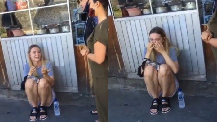 VIRAL: Video Bule Rusia Dijambret dan Menangis di Pinggir Jalan, Ponsel Rp 20 Juta Hilang