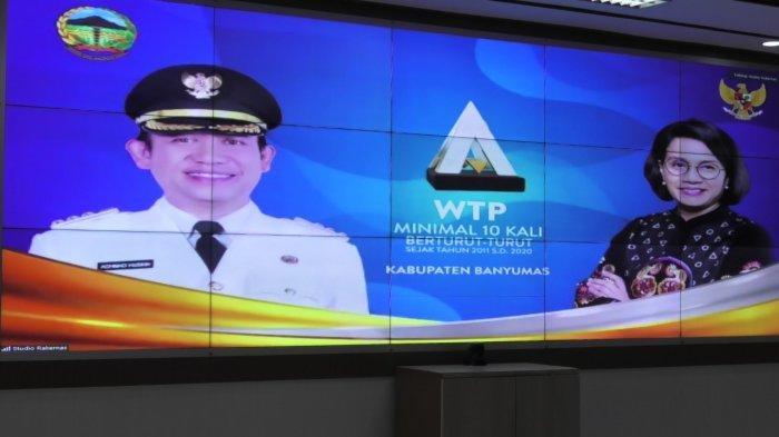 Foto Bupati Banyumas Nampang Bareng Menkeu Sri Mulyani Saat Rakernas, Ada Apa?