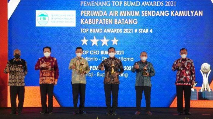 Mantap, PDAM Sendang Kamulyan Batang Raih TOP Award 2021