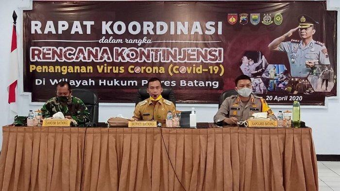 Pemkab, Polres dan Kodim 0736/Batang Bersinergi Siapkan Langkah Kontijensi Penanganan Virus Corona