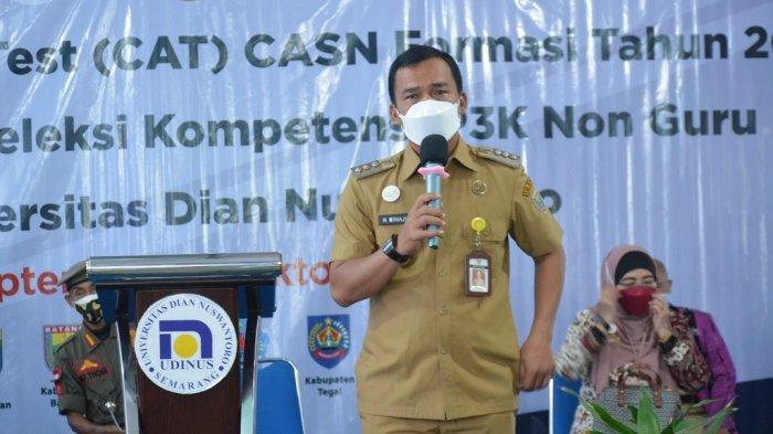 Bupati Batang Wihaji Tinjau Lokasi Tes SKD CASN 2021, Pastikan Pelaksanaan Sesuai Prokes