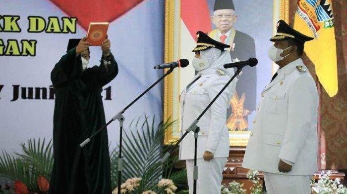 Fadia-Riswadi Resmi Dilantik Bupati dan Wakil Bupati Pekalongan, Ganjar: Siap Dadi Babune Rakyat