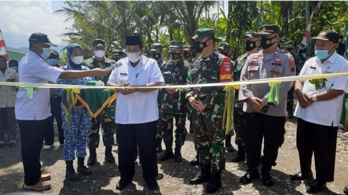 TMMD Ke-110 di Desa Tumanggal Purbalingga Selesai 100 Persen, Jalan Baru 2.000 Meter Terbangun