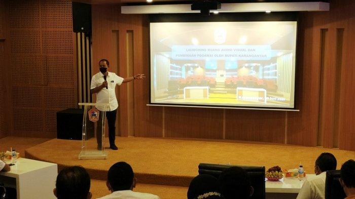 Launching Ruang Audio Visual Disarpus, Bupati Karanganyar: Jangan Alih Fungsi Jadi Tempat Karaoke