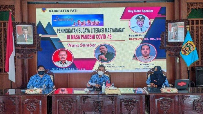 Bupati Pati Haryanto Luncurkan Aplikasi Perpustakaan Digital i-Pati Pintar