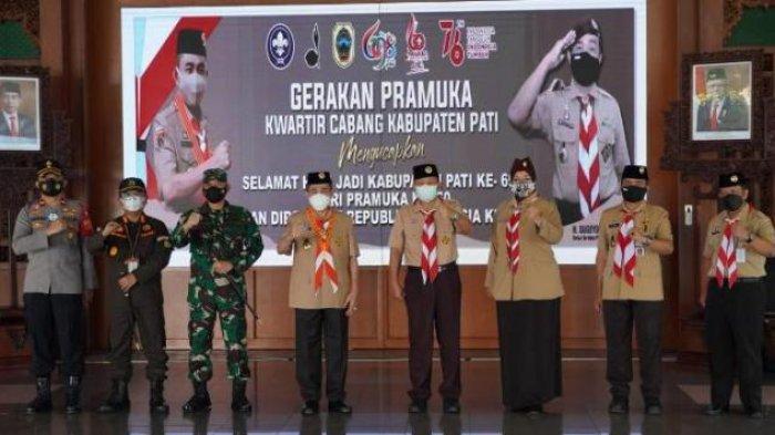 Bupati Haryanto Minta Pramuka Pati Terus Aktif Bantu Penanganan Pandemi Covid-19