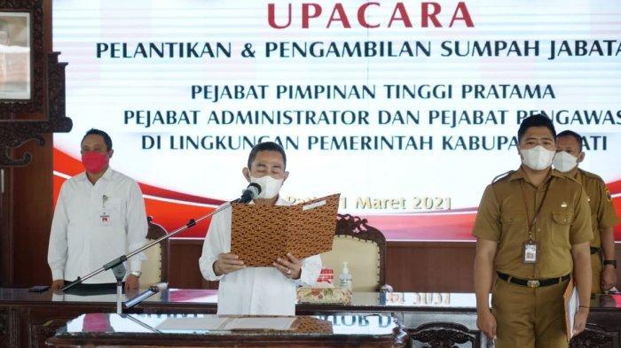 Bupati Haryanto Lantik 34 Pejabat Pemkab Pati
