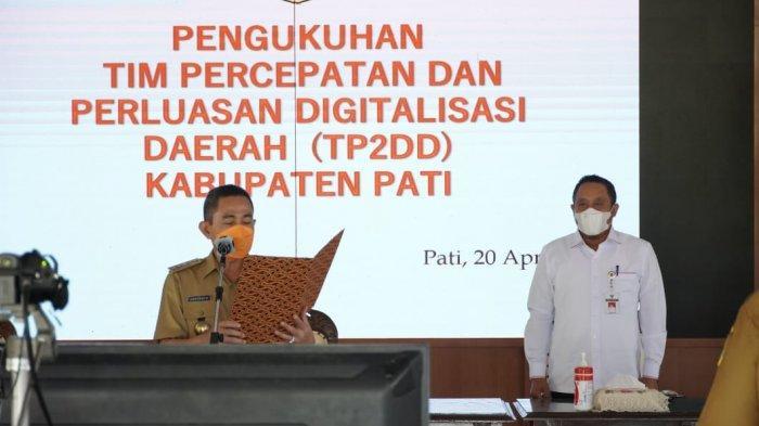 Bupati Pati Haryanto Kukuhkan Tim Percepatan dan Perluasan Digitalisasi Daerah