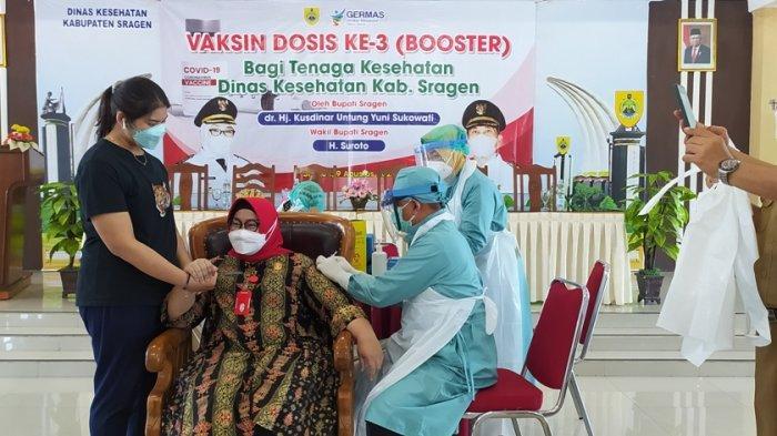 Bupati Sragen Rasakan Efek Vaksin Moderna Booster Selama Dua Hari, Pegal-pegal Hingga Panas