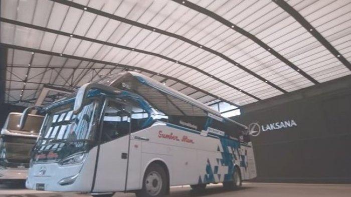 Penampakan Bus Bio Smart PO Sumber Alam Aman dari Corona, Prototipe Pabrikan Karoseri Laksana