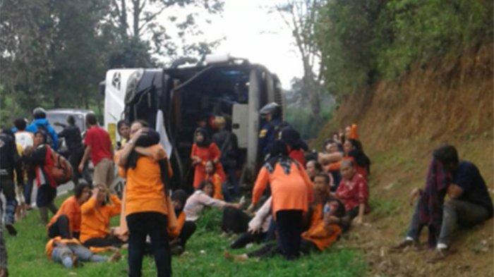 Sopir Bus Ditetapkan Tersangka, Begini Pengakuannya Sebelum di Tanjakan Emen