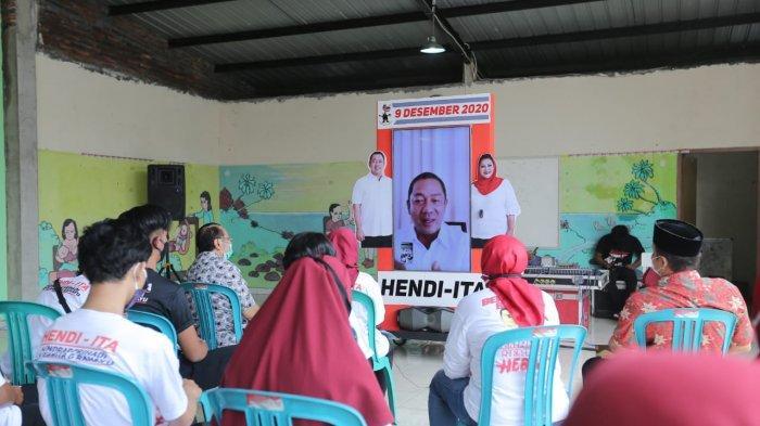 Manfaatkan Sisa Waktu Kampanye, Ketua Relawan Hendi-Ita Maksimalkan Virtual Box