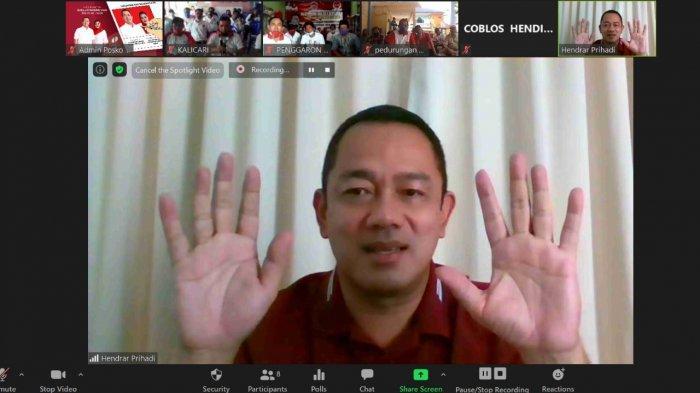 Hendi Tampil Secara Virtual, Berkampanye Pertama Kali Pasca Rehat