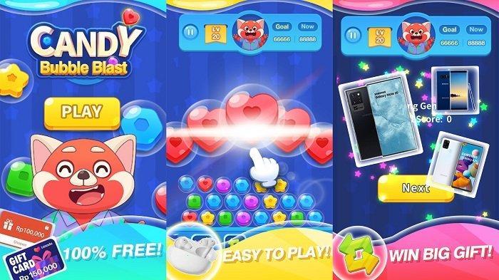 Cara Dapat Cuan dari Aplikasi Candy Bubble Blast Game Penghasil Uang Tanpa Harus Undang Teman