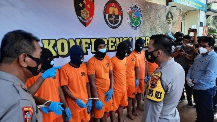 Polres Wonogiri Ungkap Kasus Ilegal Logging, Amankan 8 Orang dan 134 Batang Kayu Sonokeling