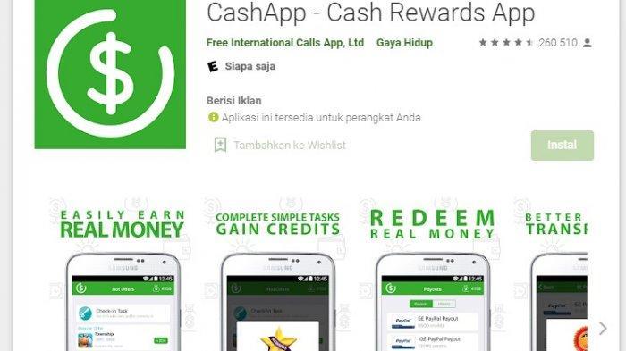Aplikasi Penghasil Uang CashApp, Cukup Main Game dan Tonton Video Bisa Dapat Saldo Paypal