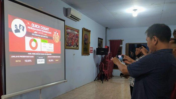 Hasil Pilkada Wonogiri 2020 Hitung Cepat, Joko Jekek Sutopo-Setyo Sukarno Unggul di Semua Kecamatan