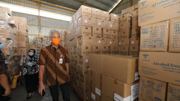 Ganjar Pranowo Cek Stok Vaksin, Minta Semua Lini Lakukan Percepatan
