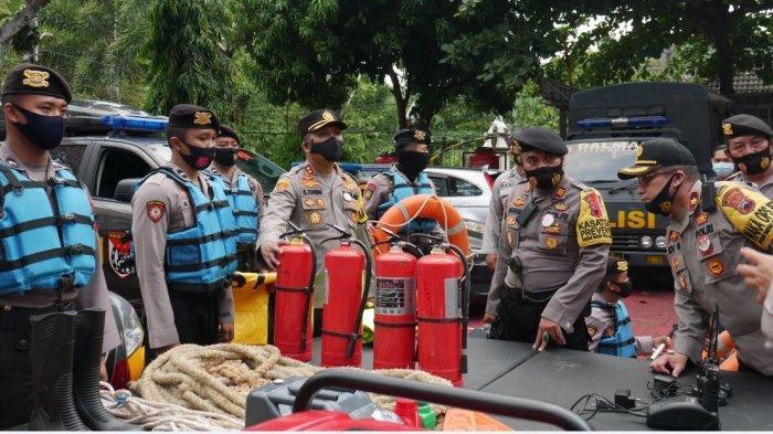 Kapolres Wonogiri  AKBP Christian Tobing Cek Kesiapsiagaan Kontijensi Bencana Alam