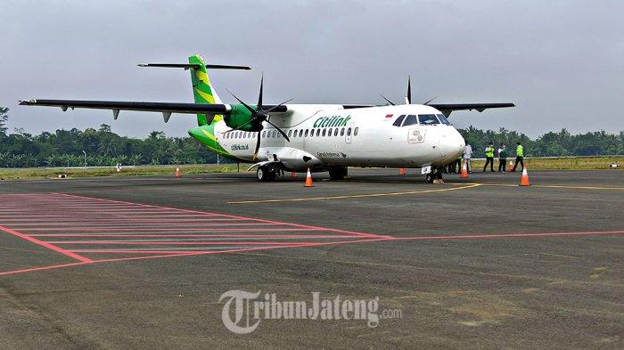 Citilink Sukses Mendarat di Bandara Jenderal Besar Soedirman Purbalingga