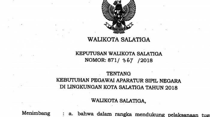 Horee, Website Lowongan CPNS Pemkot Salatiga Sudah Bisa Diakses