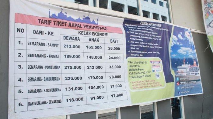 Ini Daftar Harga Tiket Kapal Penumpang Berangkat Dari Pelabuhan Tanjung Emas Tribun Jateng