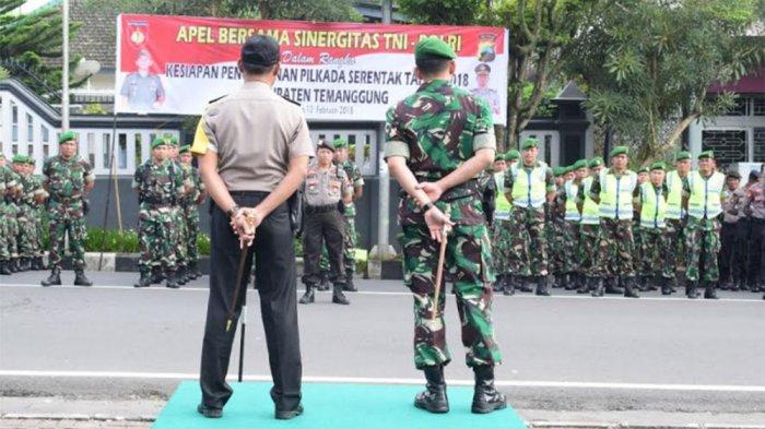 Begini Sinergi TNI Polri dalam Pengamanan Pilkada Serentak 2018 di Temanggung
