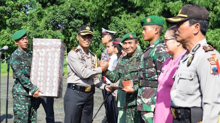 KOMPAK, Polres Temanggung dan Kodim 0706 Temanggung Gelar Upacara Bersama