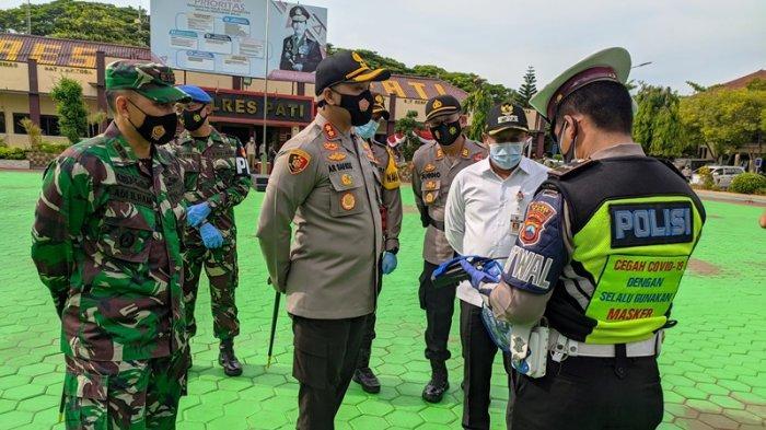 Selain Pengamanan Nataru, Operasi Lilin Candi 2020 di Pati juga Sasar Penertiban Protokol Kesehatan