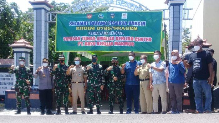 Gandeng Yayasan Tunas Amaliah, Kodim Sragen Gelar Serbuan Vaksinasi di Miri, Danrem Terjun Langsung