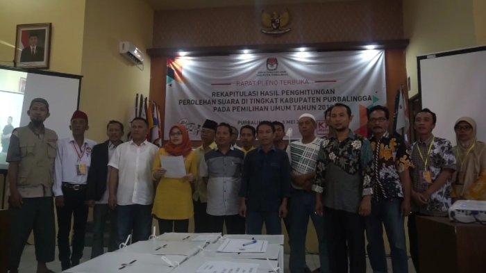 Rekapitulasi Tingkat Kabupaten Purbalingga Selesai, Semua Pihak Deklarasi Pemilu 2019 Jujur dan Adil