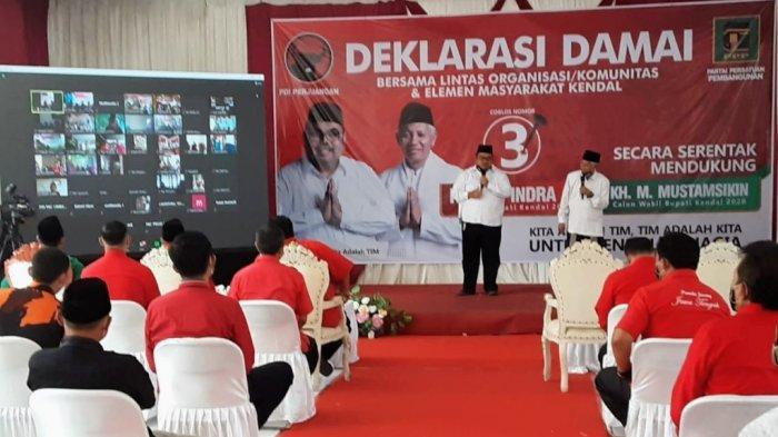 Hari Pertama Kampanye, 3Paslon Pilkada Kendal Tancap Gas, Pertemuan Terbatashingga Daring