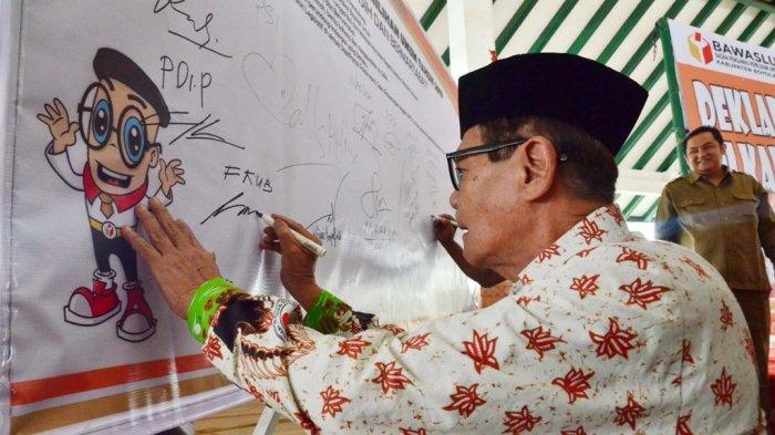 Berupaya Wujudkan Pemilu 2019 Aman, Bawaslu Gelar Deklarasi Damai
