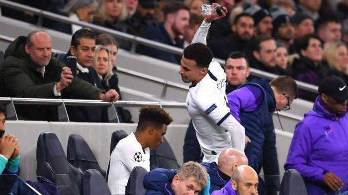 Insiden Liga Champion Tadi Malam, Dele Alli Marah Banting Botol Air Minum, Ini Kata Mourinho