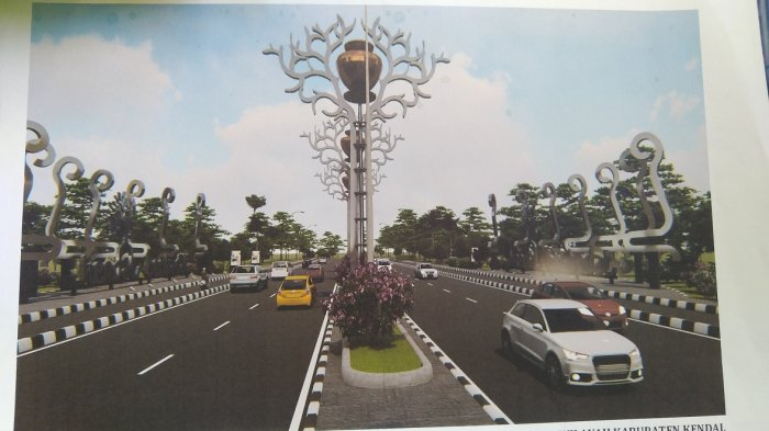 Begini Desain Baru Tugu Batas Kabupaten Kendal di Kaliwungu
