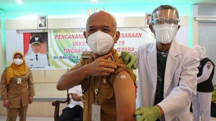 Pemkab Jepara Luncurkan Gerakan Vaksinasi Covid-19, Dian Kristiandi Jadi Orang Pertama Divaksin