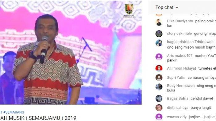 Sedang Berlangsung Live Streaming Youtube Godfather of Broken Heart Didi Kempot di BKB Semarang
