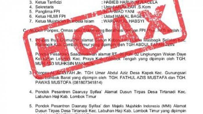 Nama Dit Intelkam Dicatut Pengurus FPI, Kombes Pol Susilo Nyatakan Banyak Kejanggalan, Cek Faktanya