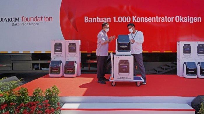 Djarum Foundation memberikan 1.000 konsentrator oksigen kepada rumah sakit di Jateng dan DIY melalui Kementerian Perindustrian RI, Jumat (10/9/2021).