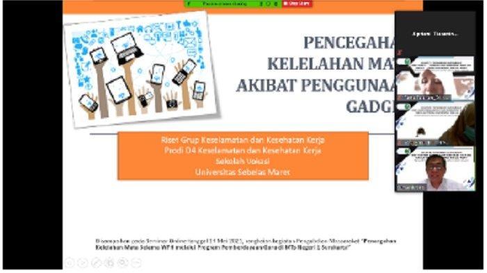 K3 UNS Kesehatan Kerja Guru melalui Pengabdian Masyarakat Cegah Kelelahan Mata Guru MTsN 1 Surakarta