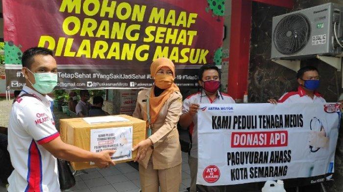 Peduli Tenaga Medis, 14 Paguyuban AHASS di Jawa Tengah Berbagi Alat Pelindung Diri