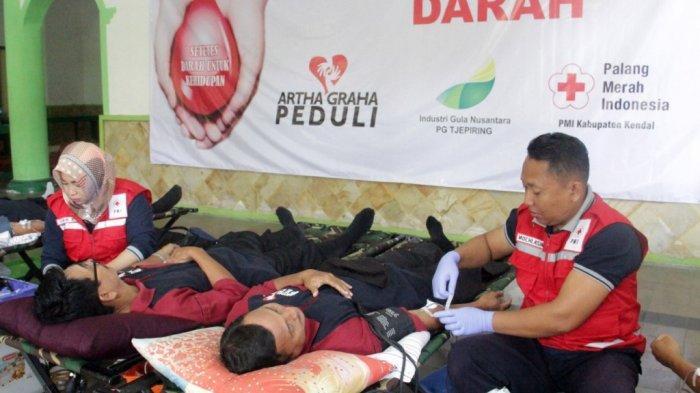 200 Kantong Darah Terkumpul, PMI Kendal Berterima Kasih Kepada Karyawan PT IGN