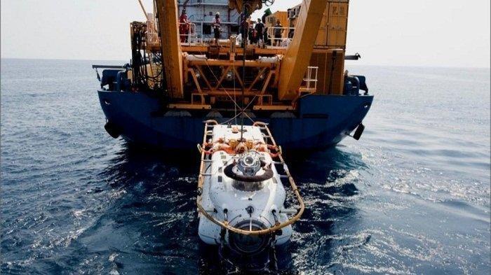 DSRV AL India yang dikirim untuk membantu proses pencarian KRI Nanggala 402.