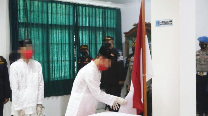 Dua Narapidana Teroris Ucapkan Ikrar Setia NKRI di Lapas High Risk Pasir Putih Nusakambangan