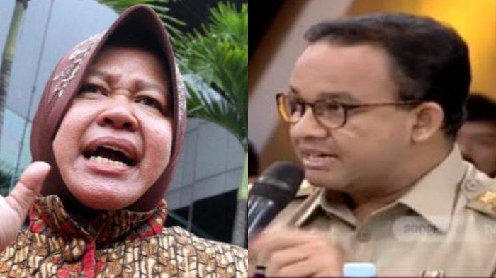 Tagar Risma Trending Twitter, Netizen Salahkan Anies Soal Banjir Surabaya